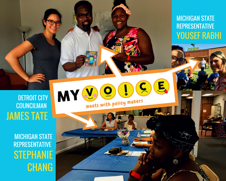 MyVoice meets with policy makers including Michigan state representative Yousef Rabhi, Detroit city councilman James Tate and Michigan state representative Stephanie Chang