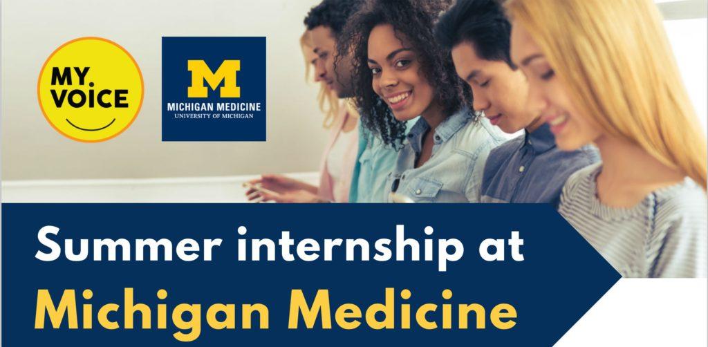Summer internship at Michigan Medicine MyVoice