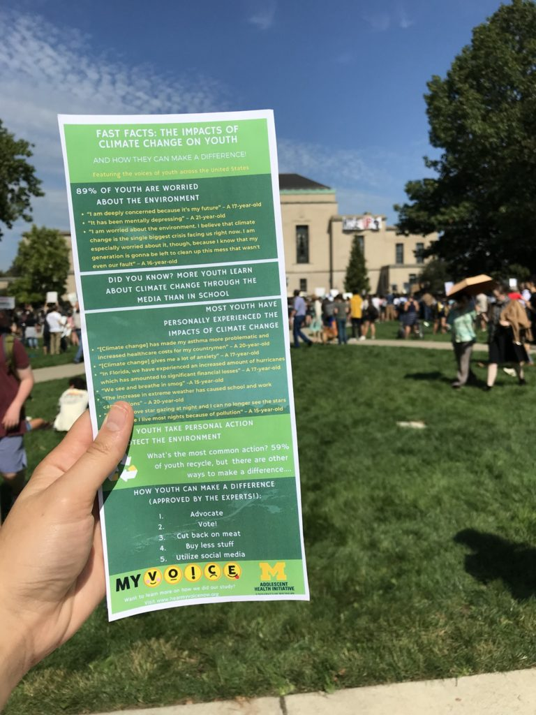 Handout at Climate Change Rally.