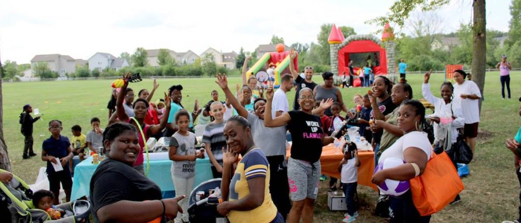 families and youth at the Macarthur boulevard community fun day