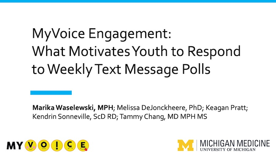 MyVoice Engagement: What Motivates Youth to Respond to Weekly Text Message Polls