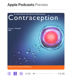 Aple Podcast Preview of Contraception Journal
