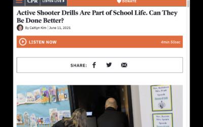 MyVoice Active Shooter Drill Researcher on Colorado Public Radio